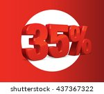 35 percent off  sale background ... | Shutterstock .eps vector #437367322