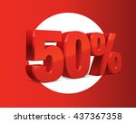 50 percent off  sale background ... | Shutterstock .eps vector #437367358