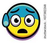 vector terrified face isolated...   Shutterstock .eps vector #437382268