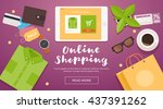 online shopping. online store... | Shutterstock .eps vector #437391262
