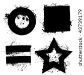 black grunge ink splat shapes...   Shutterstock .eps vector #43739179
