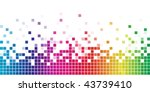 colorful rainbow square mosaic. | Shutterstock .eps vector #43739410