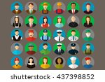 professions vector flat icons. | Shutterstock .eps vector #437398852