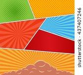 comics book background in...   Shutterstock .eps vector #437407246