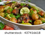 Baked Potatoes With Chicken An...