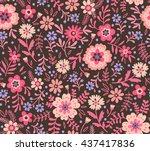 cute pattern in small flower.... | Shutterstock .eps vector #437417836