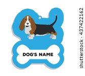 isolated blue dog tag with text ... | Shutterstock .eps vector #437422162