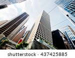 abstract buildings background | Shutterstock . vector #437425885