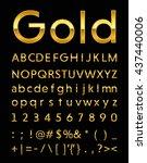 gold letter  | Shutterstock .eps vector #437440006