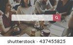 search web networking internet...   Shutterstock . vector #437455825