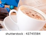 coffee with on a gold background | Shutterstock . vector #43745584