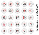 business and management icons... | Shutterstock .eps vector #437456452