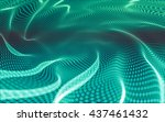 abstract polygonal space low... | Shutterstock . vector #437461432
