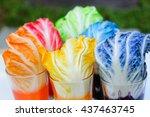 the rainbow vegetables  ... | Shutterstock . vector #437463745