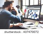 weekly schedule to do list... | Shutterstock . vector #437470072