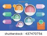 travel info graphic design on... | Shutterstock .eps vector #437470756