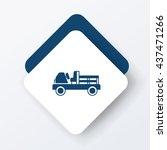 cargo truck icon | Shutterstock .eps vector #437471266