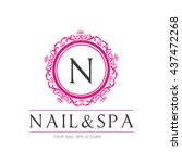 nail beauty spa logo template  ... | Shutterstock .eps vector #437472268