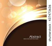 vector orange background.... | Shutterstock .eps vector #437473636