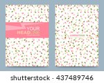 cover template design with... | Shutterstock .eps vector #437489746