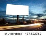 billboard blank for outdoor... | Shutterstock . vector #437513362