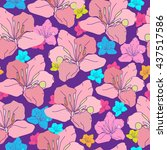 seamless pattern with colorful... | Shutterstock .eps vector #437517586