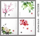 set of compositions... | Shutterstock .eps vector #437522308