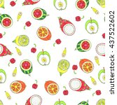 fruit pattern | Shutterstock . vector #437522602