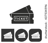 ticket   black and white icons. ... | Shutterstock .eps vector #437534596