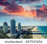 Miami Beach Skyline At Dusk....
