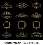 wicker lines and old decor...   Shutterstock .eps vector #437546248