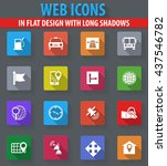 navigation web icons in flat... | Shutterstock .eps vector #437546782