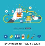 internet and mobile marketing... | Shutterstock .eps vector #437561236