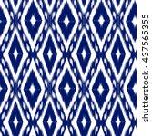 seamless pattern tribal art... | Shutterstock .eps vector #437565355