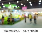 abstract blur people in food... | Shutterstock . vector #437578588