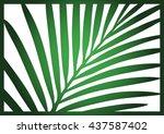 die cut card. laser cut vector... | Shutterstock .eps vector #437587402