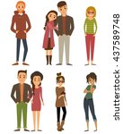 people characters. character... | Shutterstock . vector #437589748