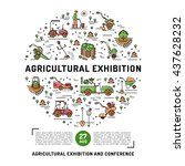 agricultural exhibition design... | Shutterstock .eps vector #437628232
