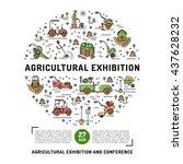 agricultural exhibition design... | Shutterstock .eps vector #437628232