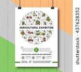 agricultural exhibition design... | Shutterstock .eps vector #437628352