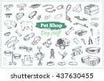pet shop  dog stuff. isolated... | Shutterstock .eps vector #437630455