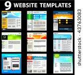 nine website templates. first...   Shutterstock .eps vector #43763083