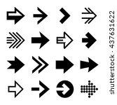 arrows icon set on white...