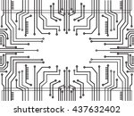 microchip line technology and... | Shutterstock .eps vector #437632402