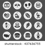 independence day web icons for... | Shutterstock .eps vector #437636755