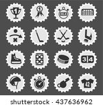 hockey web icons for user... | Shutterstock .eps vector #437636962