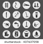 garden tools web icons for user ... | Shutterstock .eps vector #437637058
