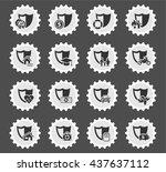 insurance web icons for user... | Shutterstock .eps vector #437637112