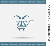 shopping cart icon | Shutterstock .eps vector #437637502