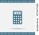 calculator icon. flat design... | Shutterstock .eps vector #437647486